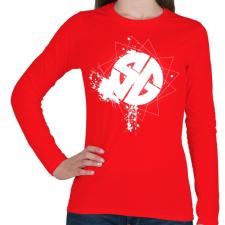PRINTFASHION sgb1wh.png - Női hosszú ujjú póló - Piros női póló