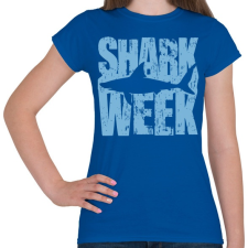 PRINTFASHION Shark Week - Női póló - Királykék női póló