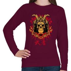 PRINTFASHION Shogun - Női pulóver - Bordó
