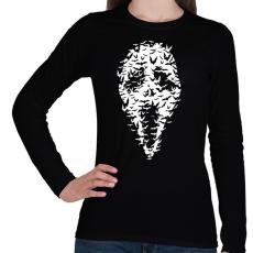 PRINTFASHION Sikoly denevérek - Női hosszú ujjú póló - Fekete