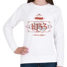 PRINTFASHION since-1933-red-black - Női pulóver - Fehér