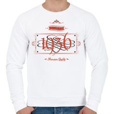 PRINTFASHION since-1936-red-black - Férfi pulóver - Fehér