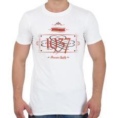 PRINTFASHION since-1937-red-black - Férfi póló - Fehér
