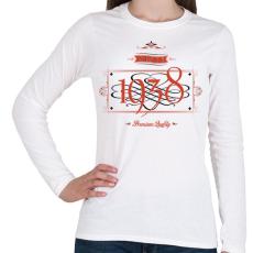 PRINTFASHION since-1938-red-black - Női hosszú ujjú póló - Fehér