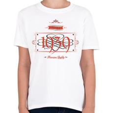 PRINTFASHION since-1939-red-black - Gyerek póló - Fehér