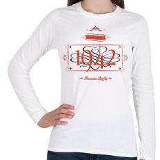 PRINTFASHION since-1942-red-black - Női hosszú ujjú póló - Fehér