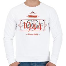 PRINTFASHION since-1944-red-black - Férfi pulóver - Fehér