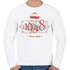 PRINTFASHION since-1948-red-black - Férfi pulóver - Fehér