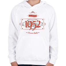 PRINTFASHION since-1952-red-black - Gyerek kapucnis pulóver - Fehér