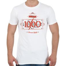PRINTFASHION since-1960-red-black - Férfi póló - Fehér