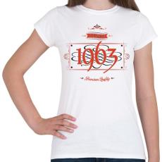 PRINTFASHION since-1963-red-black - Női póló - Fehér