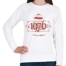 PRINTFASHION since-1976-red-black - Női pulóver - Fehér