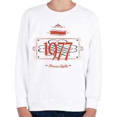PRINTFASHION since-1977-red-black - Gyerek pulóver - Fehér