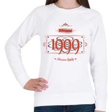 PRINTFASHION since-1999-red-black - Női pulóver - Fehér