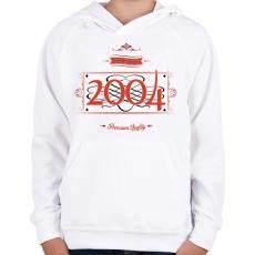 PRINTFASHION since-2004-red-black - Gyerek kapucnis pulóver - Fehér