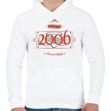 PRINTFASHION since-2006-red-black - Férfi kapucnis pulóver - Fehér