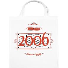 PRINTFASHION since-2006-red-black - Vászontáska - Fehér