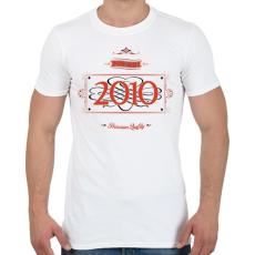 PRINTFASHION since-2010-red-black - Férfi póló - Fehér
