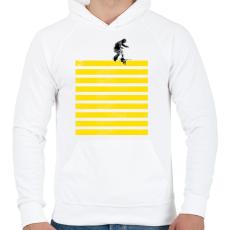 PRINTFASHION Slide on stripes - Férfi kapucnis pulóver - Fehér