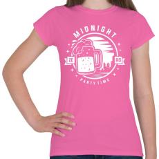 PRINTFASHION Sör Party - Női póló - Rózsaszín