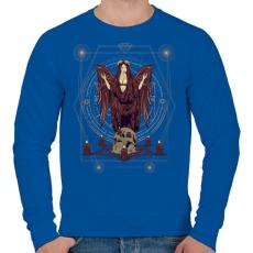 PRINTFASHION Sötét angyal - Férfi pulóver - Királykék