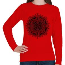 PRINTFASHION Sötét csillag - Női pulóver - Piros