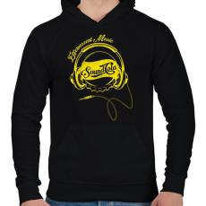 PRINTFASHION Sound Cola - Férfi kapucnis pulóver - Fekete