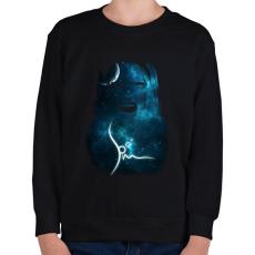 PRINTFASHION spacemascream-01.png - Gyerek pulóver - Fekete