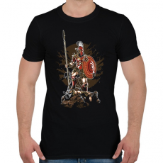 PRINTFASHION Sparta - Férfi póló - Fekete
