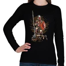PRINTFASHION Sparta - Női hosszú ujjú póló - Fekete