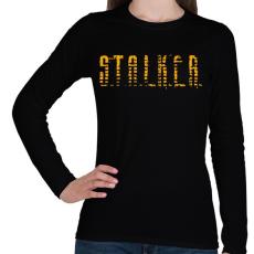PRINTFASHION STALKER - Női hosszú ujjú póló - Fekete