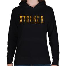 PRINTFASHION STALKER - Női kapucnis pulóver - Fekete
