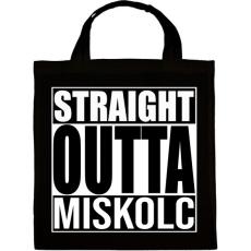PRINTFASHION Straight Outta Miskolc - Vászontáska - Fekete