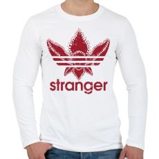 PRINTFASHION Stranger - Férfi hosszú ujjú póló - Fehér