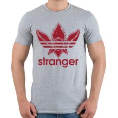 PRINTFASHION Stranger - Férfi póló - Sport szürke