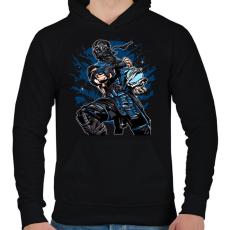 PRINTFASHION Sub Zero - Férfi kapucnis pulóver - Fekete