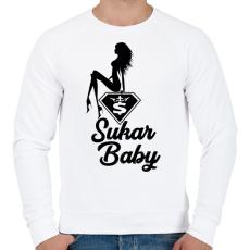 PRINTFASHION Sukar Baby - Férfi pulóver - Fehér