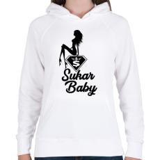 PRINTFASHION Sukar Baby - Női kapucnis pulóver - Fehér