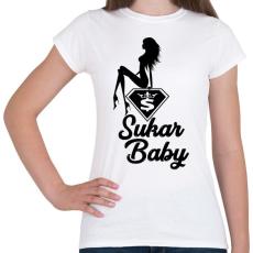 PRINTFASHION Sukar Baby - Női póló - Fehér