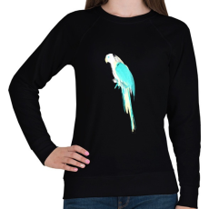 PRINTFASHION Summer parrot - Női pulóver - Fekete