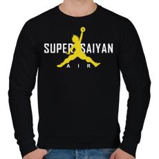 PRINTFASHION Super Saiyan Air - Férfi pulóver - Fekete