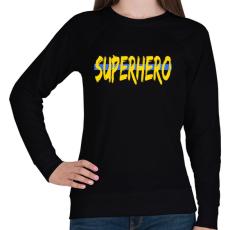 PRINTFASHION SUPERHERO - Női pulóver - Fekete