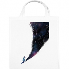 PRINTFASHION Surfing the universe - Vászontáska - Fehér
