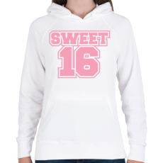 PRINTFASHION Sweet 16 - Női kapucnis pulóver - Fehér