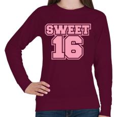 PRINTFASHION Sweet 16 - Női pulóver - Bordó