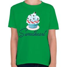 PRINTFASHION Sweetheart - Gyerek póló - Zöld