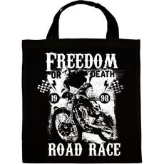 PRINTFASHION Szabadság vagy halál - Vászontáska - Fekete