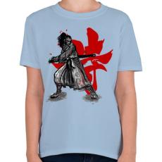 PRINTFASHION Szamuráj szellem - Gyerek póló - Világoskék