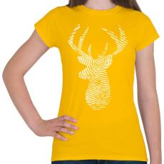 PRINTFASHION Szarvas - Női póló - Sárga