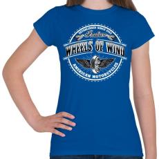 PRINTFASHION Szelek szárnyán - Női póló - Királykék
